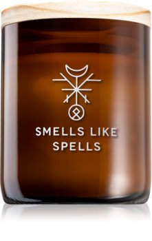 Smells Like Spells Norse Magic Mimir dišeča sveča  z lesenim stenjem (relaxation/meditation)