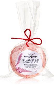 Soaphoria Romantic Rose bomba de baño antiestrés con efecto regenerador