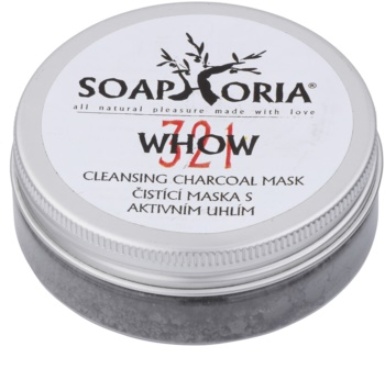 Soaphoria Organic máscara de limpeza com carbono ativo em pó