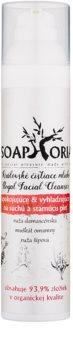 Soaphoria Royal Facial Cleanser loção calmante e suavização  para a pele seca e madura