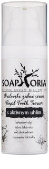 Soaphoria Royal Tooth Serum sérum dentaire au charbon actif pour un blanchiment délicat et une protection de l'émail dentaire