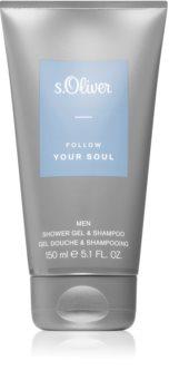 s.Oliver Follow Your Soul Men sprchový gél a šampón 2 v 1 pre mužov