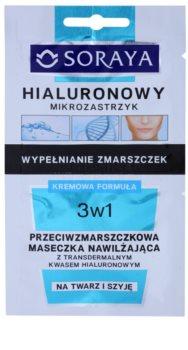 Soraya Hyaluronic Microinjection máscara hidratante antirrugas com ácido hialurónico