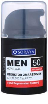 Soraya MEN Adventure 50+ crema antiarrugas para hombre