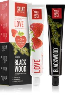 Splat Special Blackwood & Love sada zubní péče (s bělicím účinkem)