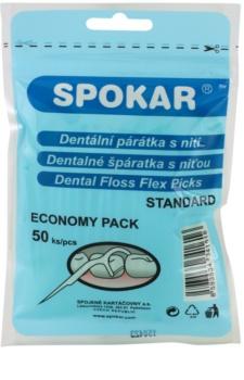 Spokar Dental Care Toothpicks with Dental Floss
