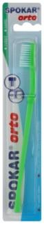 Spokar Orto escova de dentes para usuários de aparelho fixo dura