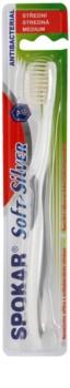 Spokar Soft-Silver escova de dentes medium