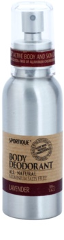 Sportique Wellness Lavender Deodorant Spray Without Aluminum Content