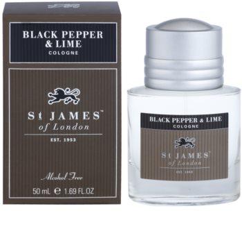 St. James Of London Black Pepper & Persian Lime agua de colonia para hombre 50 ml