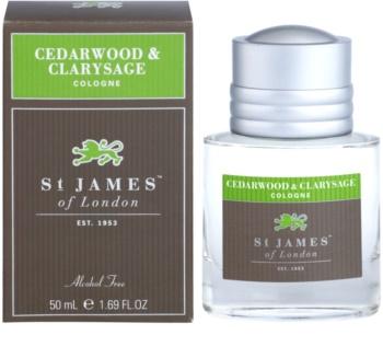 St. James Of London Cedarwood & Clarysage agua de colonia para hombre 50 ml
