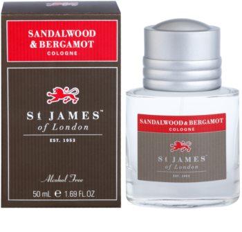 St. James Of London Sandalwood & Bergamot agua de colonia para hombre 50 ml