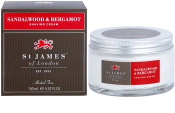 St. James Of London Sandalwood & Bergamot krem do golenia dla mężczyzn 150 ml