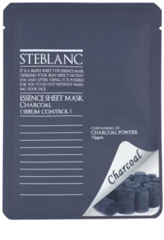 Steblanc Essence Sheet Mask Charcoal Μάσκα καθαρισμού για λιπαρή επιδερμίδα