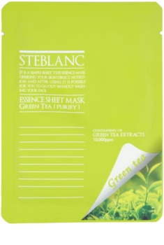 Steblanc Essence Sheet Mask Green Tea mascarilla facial limpiadora y calmante