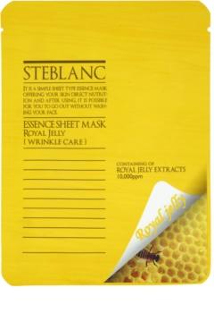 Steblanc Essence Sheet Mask Royal Jelly máscara de pele antirrugas