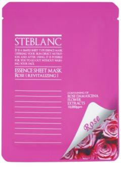 Steblanc Essence Sheet Mask Rose máscara facial revitalizante