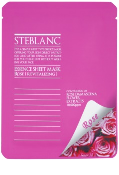 Steblanc Essence Sheet Mask Rose mascarilla facial revitalizante