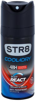 STR8 Cool & Dry Body React deodorant Spray para homens 150 ml