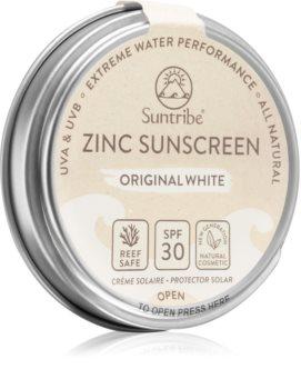Suntribe Zinc Sunscreen mineralisierende schützende Creme für das Gesicht und Körper SPF 30