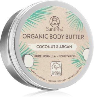 Suntribe Organic Body Butter Coconut & Argan intensive feuchtigkeitsspendende Körperbutter für trockene Haut