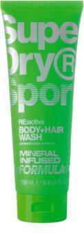 Superdry RE:active τζελ για ντους για σώμα και μαλλιά για άντρες