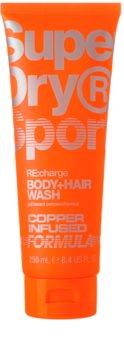 Superdry RE:charge gel doccia per corpo e capelli per uomo