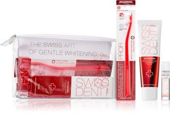 Swissdent Extreme Promo Kit sada zubní péče (pro šetrné bělení a ochranu zubní skloviny)