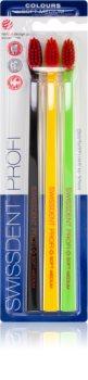 Swissdent Profi Colours четки за зъби 3 бр. средно- мека