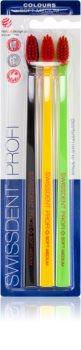 Swissdent Profi Colours cepillo de dientes 3 uds soft - medium