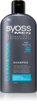 Syoss Men Clean & Cool champô para cabelo normal a oleoso