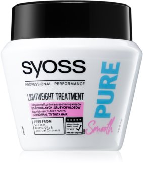 Syoss Pure Smooth Nourishing Mask for Smooth and Glossy Hair