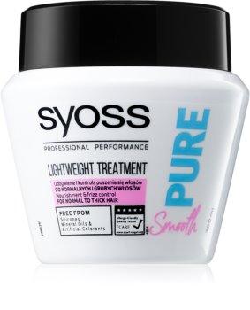 Syoss Pure Smooth vyživujúca maska pre hladké a žiarivé vlasy