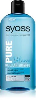 Syoss Pure Volume objemový micelárny šampón na slabé vlasy