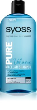 Syoss Pure Volume shampoing micellaire volume pour cheveux affaiblis