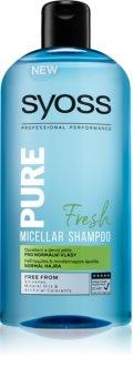 Syoss Pure Fresh Erfrischendes Mizellenshampoo für normales Haar