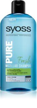 Syoss Pure Fresh osviežujúci micelárny šampón pre normálne vlasy