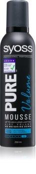 Syoss Pure Volume pěnové tužidlo pro dlouhotrvající objem
