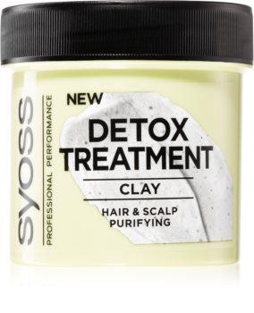 Syoss Detox Treatment jílová maska na vlasy a vlasovou pokožku