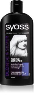 Syoss Blonde & Silver shampoing neutralisant les reflets jaunes