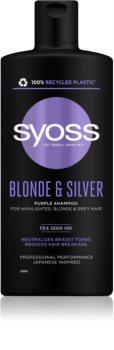 Syoss Blonde & Silver fialový šampon pro blond a šedivé vlasy