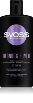 Syoss Blonde & Silver shampoing violet pour cheveux blonds et gris