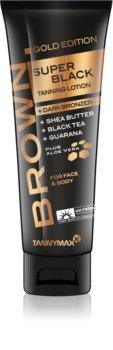 Tannymaxx Brown Super Black Gold Edition crème bronzante pour solarium