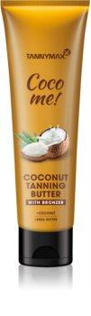 Tannymaxx Coco Me! Coconut burro corpo con bronzer per prolungare la durata dell'abbronzatura