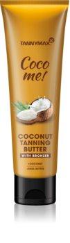 Tannymaxx Coco Me! Coconut tělové máslo s bronzerem na prodloužení opálení