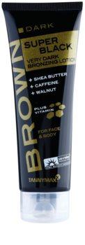 Tannymaxx Brown Super Black Dark Solarium Tanning Cream with Bronzer