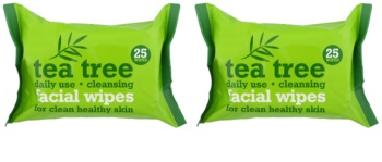 Tea Tree Facial Wipes servetele pentru curatare facial