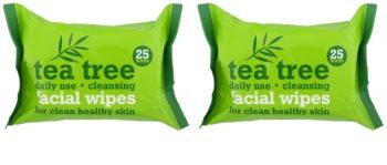 Tea Tree Facial Wipes καθαριστικά μαντηλάκια  Για το πρόσωπο