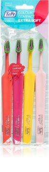 TePe Colour Compact zubní kartáčky extra soft 4 ks