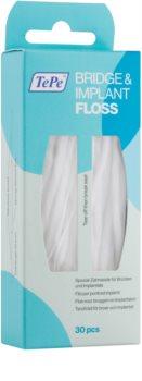 TePe Bridge & Implant Floss fil dentaire spécial pour le nettoyage des implants dentaires